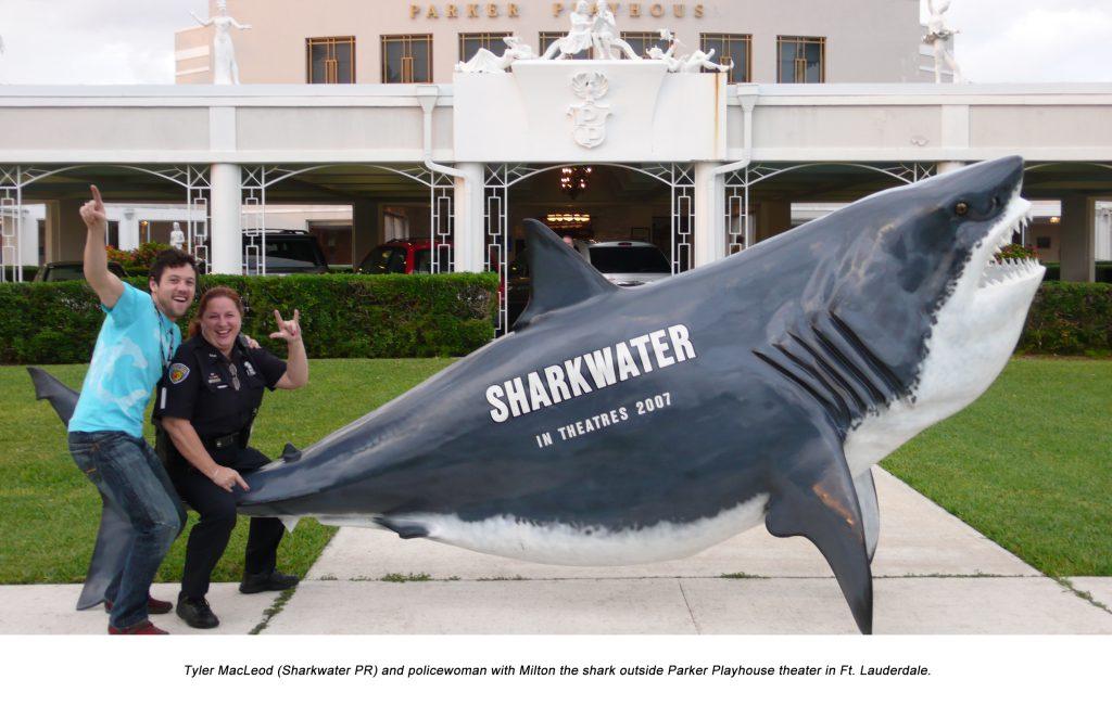 Tyler MacLeod, policewoman and Milton the shark
