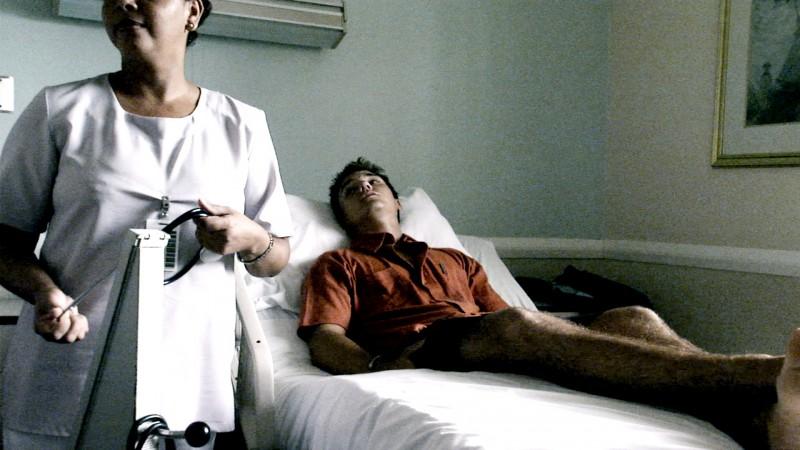 Rob Stewart in hospital