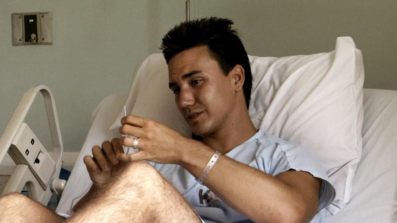 Rob Stewart in hospital 2