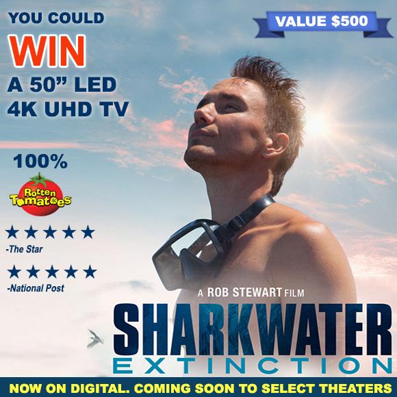 "Sharkwater Extinction: 50"" Smart TV Sweepstakes"