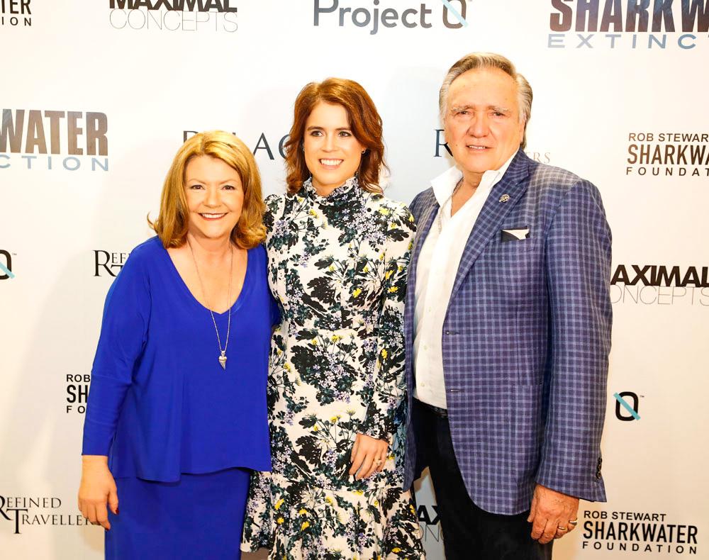 Sandy Stewart, HRH Princess Eugenie of York and Brian Stewart