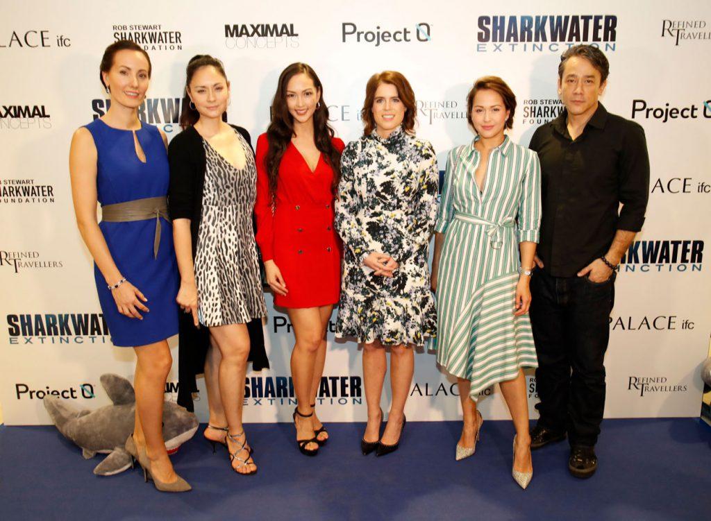 Kamilla Holst, Ana R, Jessica C, Princess Eugenie, Ankie Beilke and actor Carl Ng